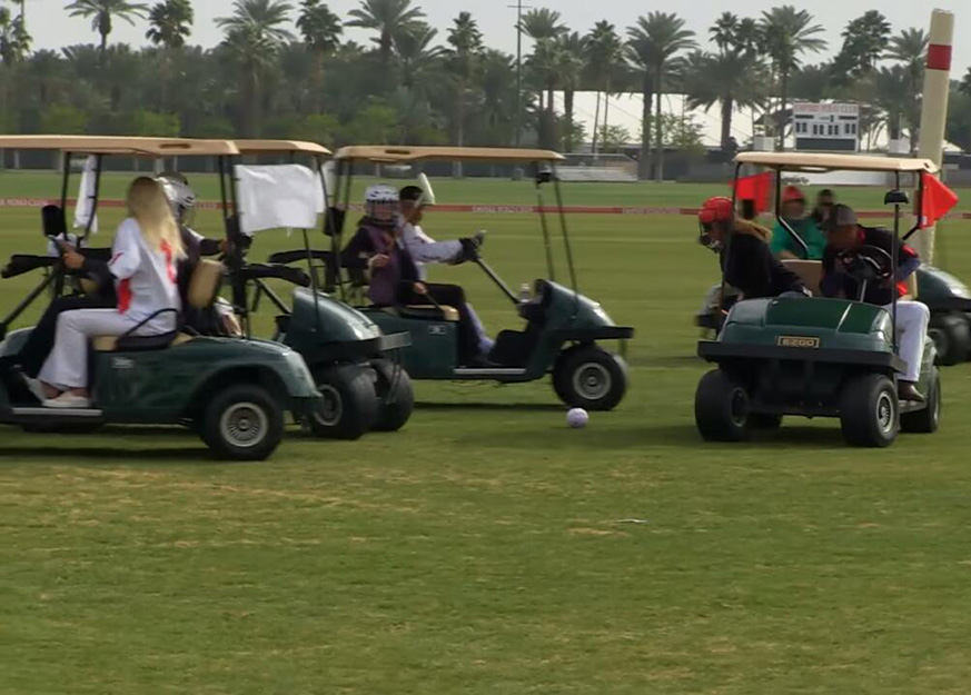 Having Real Pleasure with Golf Cart Polo in NWA Polo Club